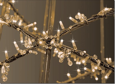 LED Mini Lights with Crystal Chains